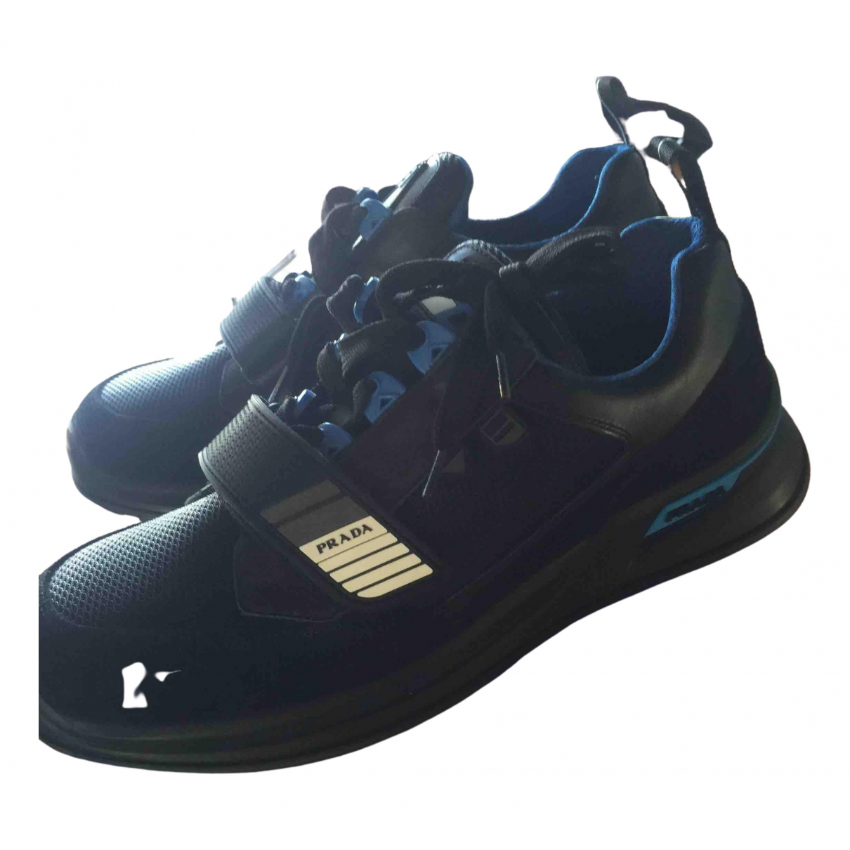 Prada - Baskets Mechano pour homme en cuir - noir