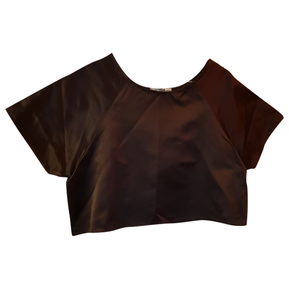 Non Signé / Unsigned \N Brown Silk  top for Women 40 IT