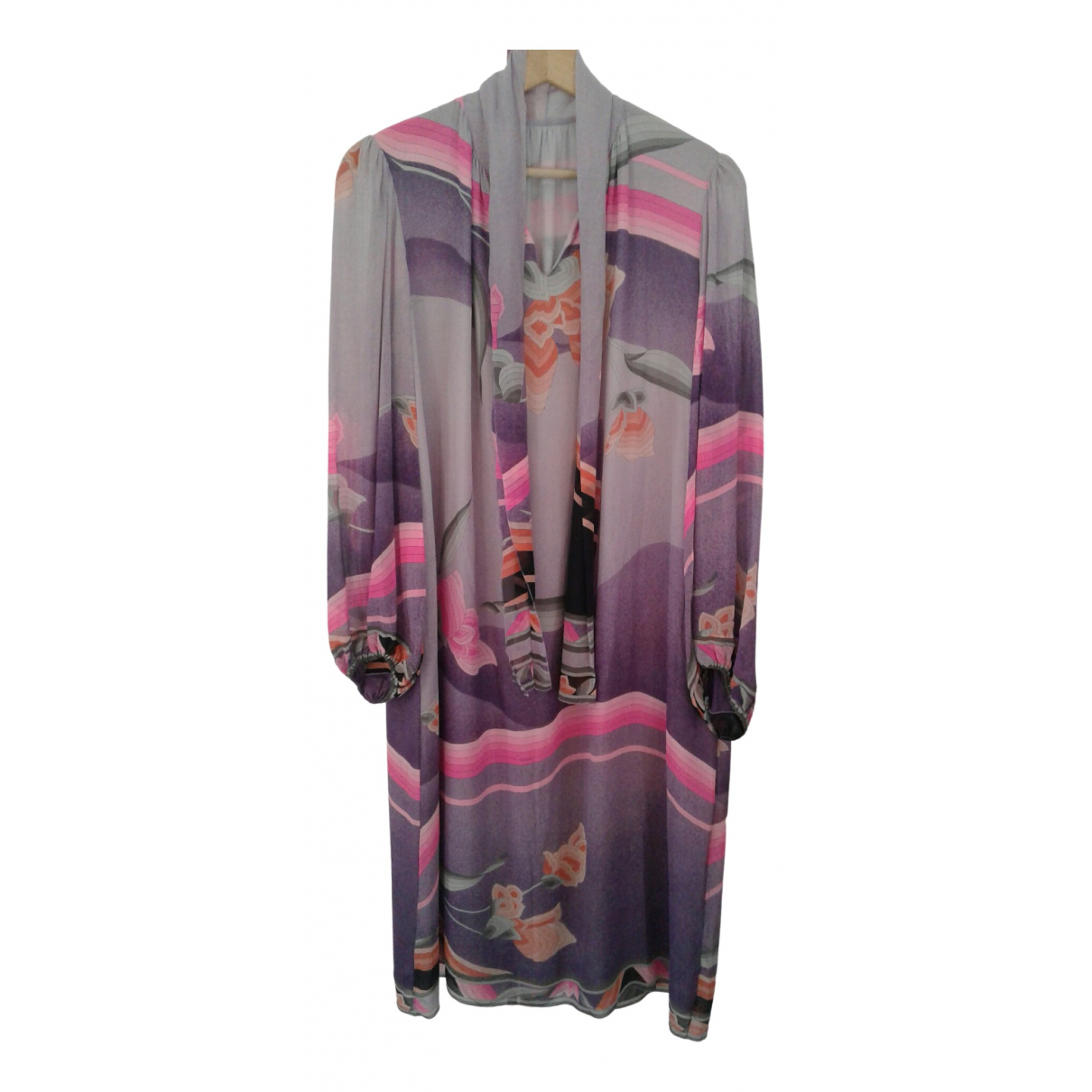 Leonard - Robe   pour femme en soie - violet