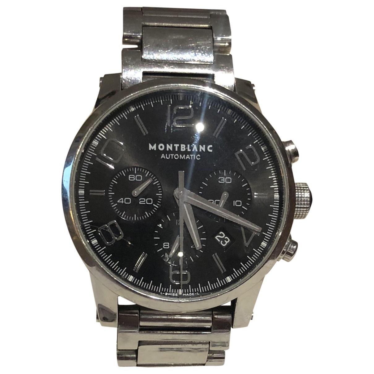 Montblanc Meisterstuck Uhr in  Silber Stahl