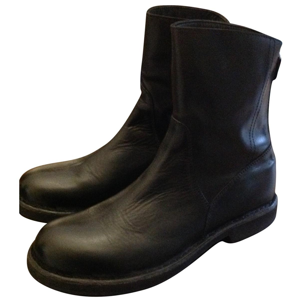 Moma \N Stiefel in  Schwarz Leder
