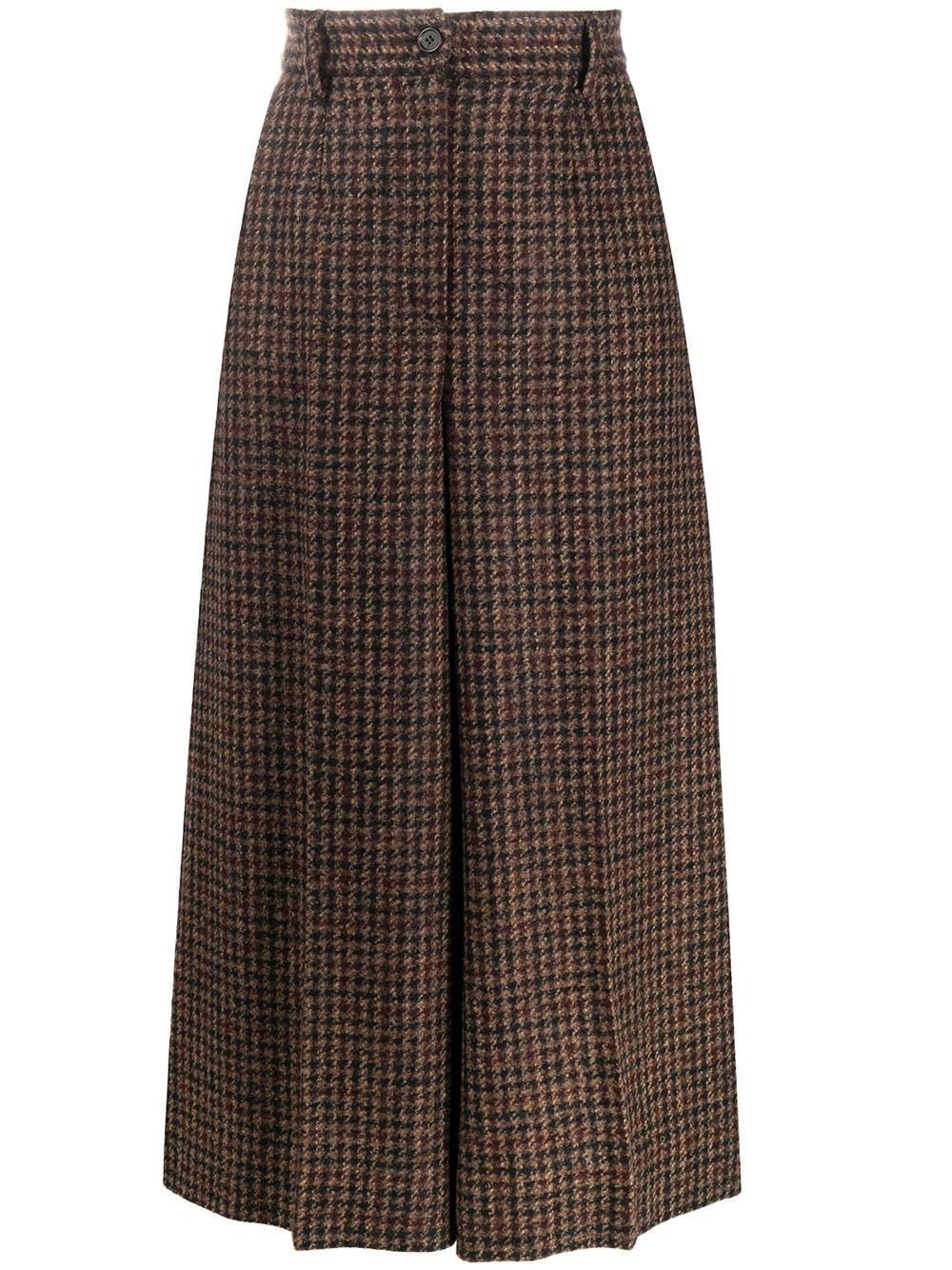 Tartan Print Trousers