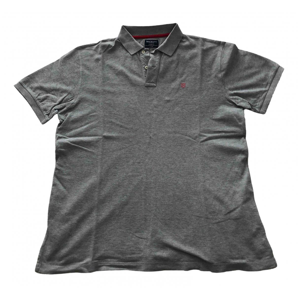 Hackett London - Polos   pour homme en coton - gris