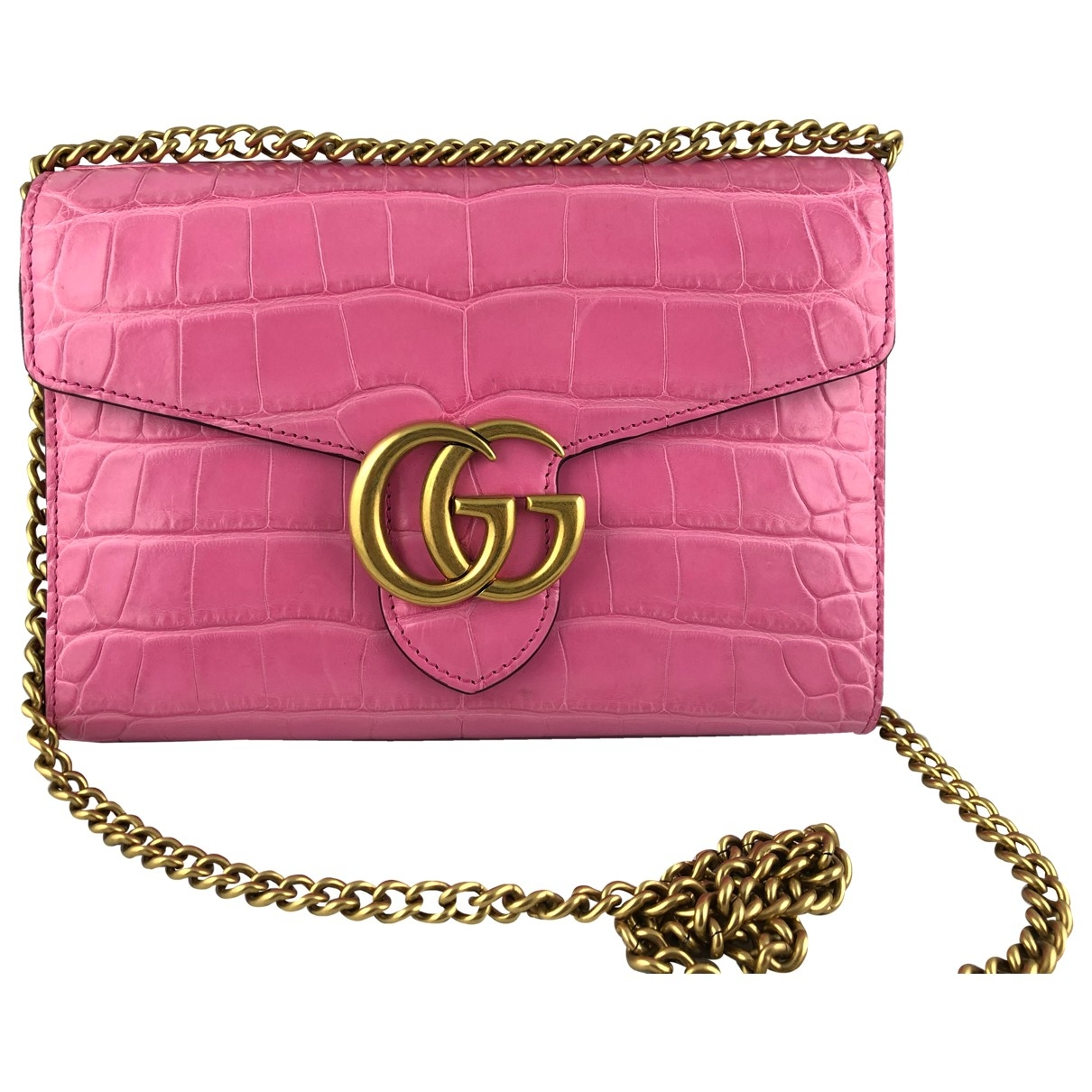 Gucci Marmont Pink Crocodile handbag for Women \N