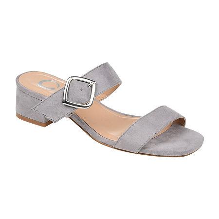 Journee Collection Womens Santana Slip-On Shoe, 8 1/2 Medium, Gray