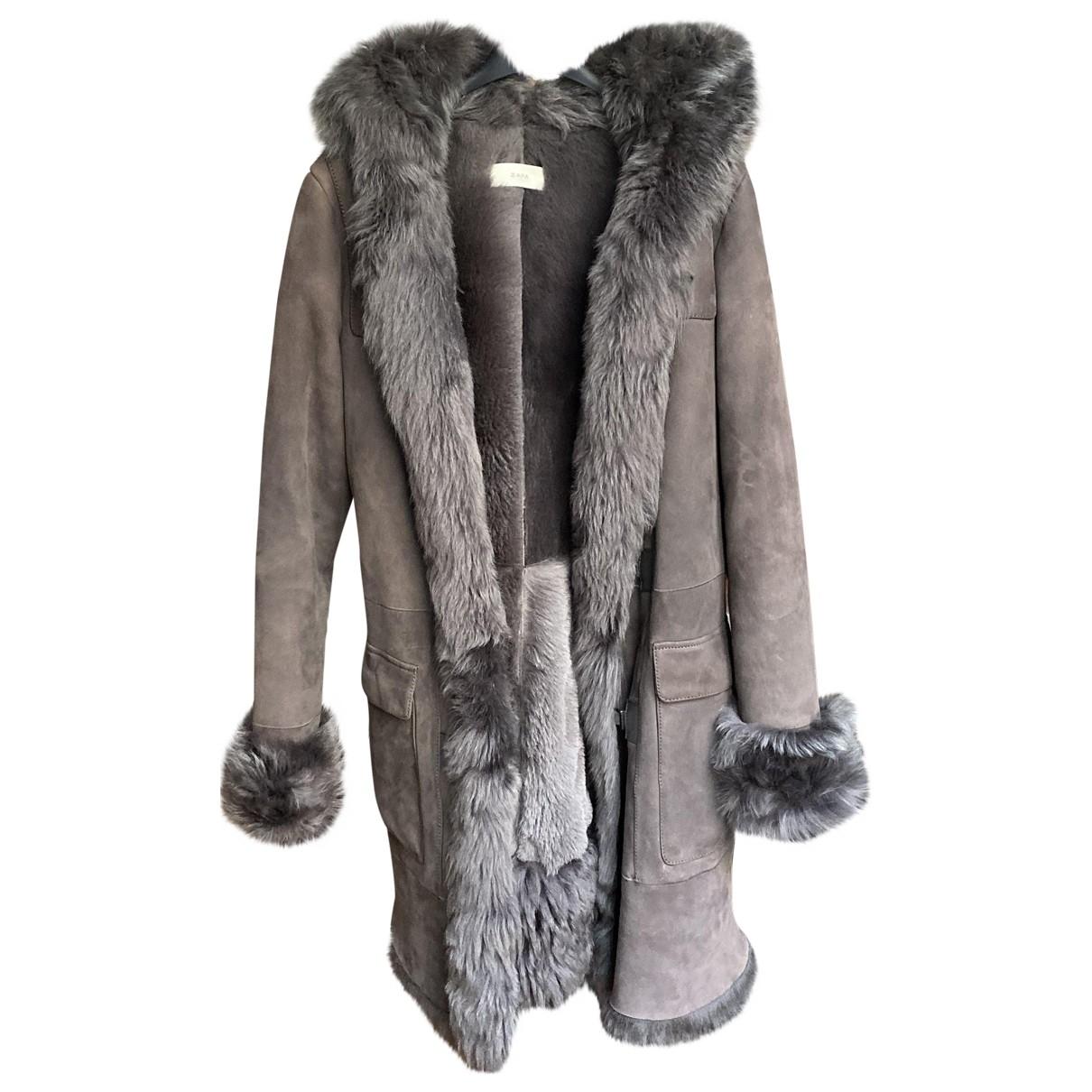 Zapa \N Maentel in  Grau Schaf