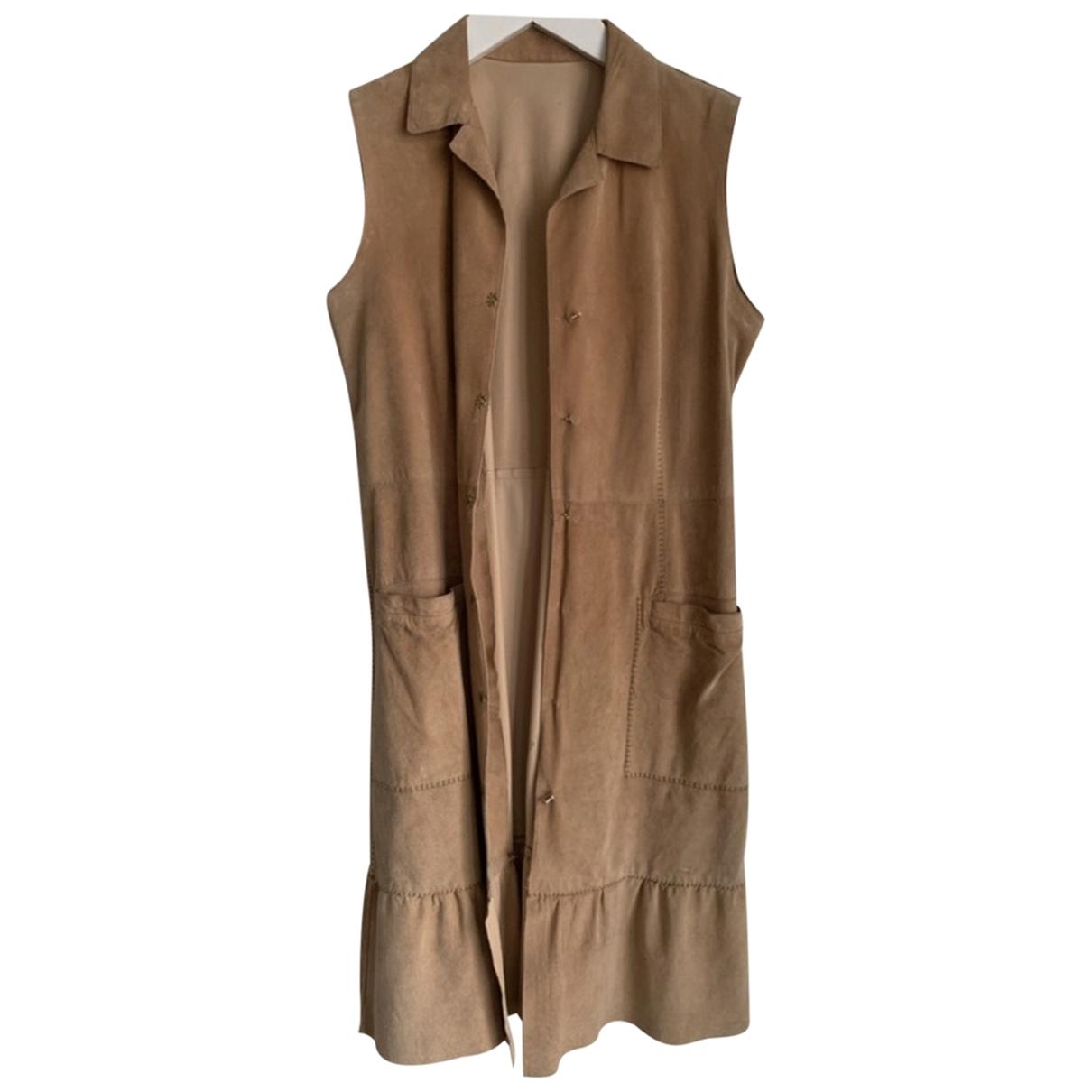 Alberta Ferretti \N Kleid in  Beige Leder