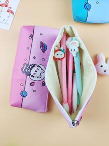 1pc Cartoon Graphic Pencil Bag