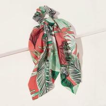 Tropical Pattern Scrunchie Scarf