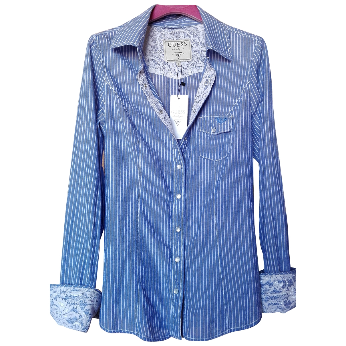Guess \N Navy Cotton  top for Women S International