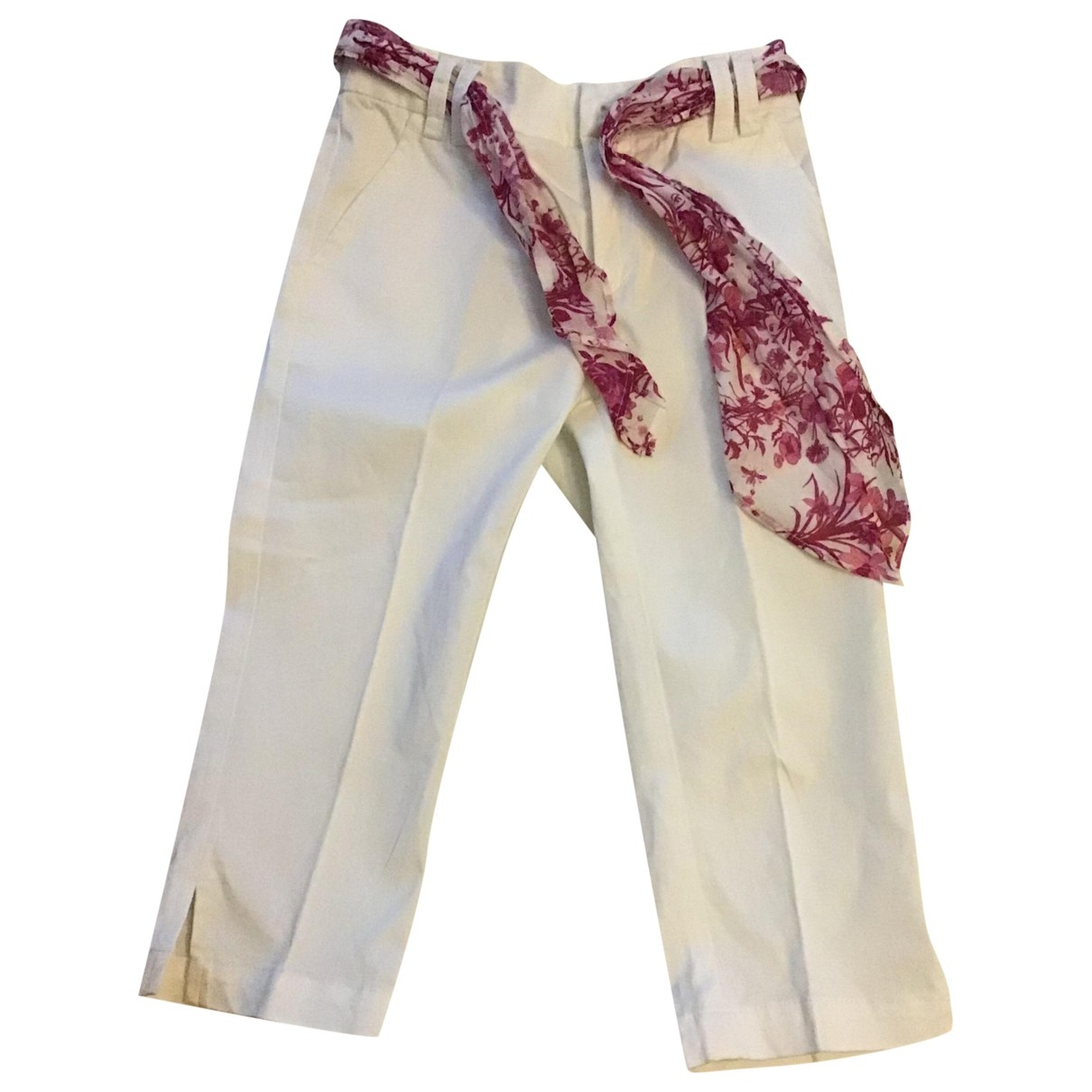Gucci \N White Cotton Trousers for Kids 6 years - up to 114cm FR