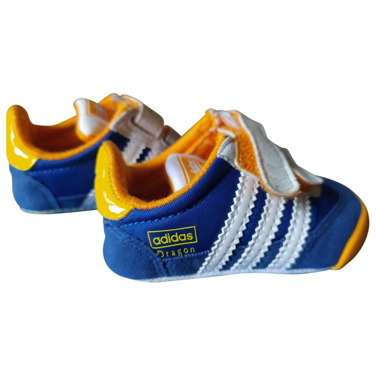 Adidas - Baskets   pour enfant en suede - bleu