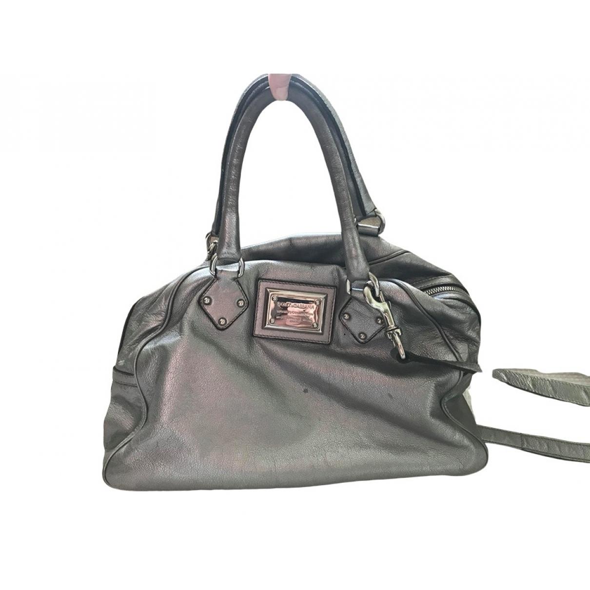 Dolce & Gabbana \N Handtasche in  Silber Leder