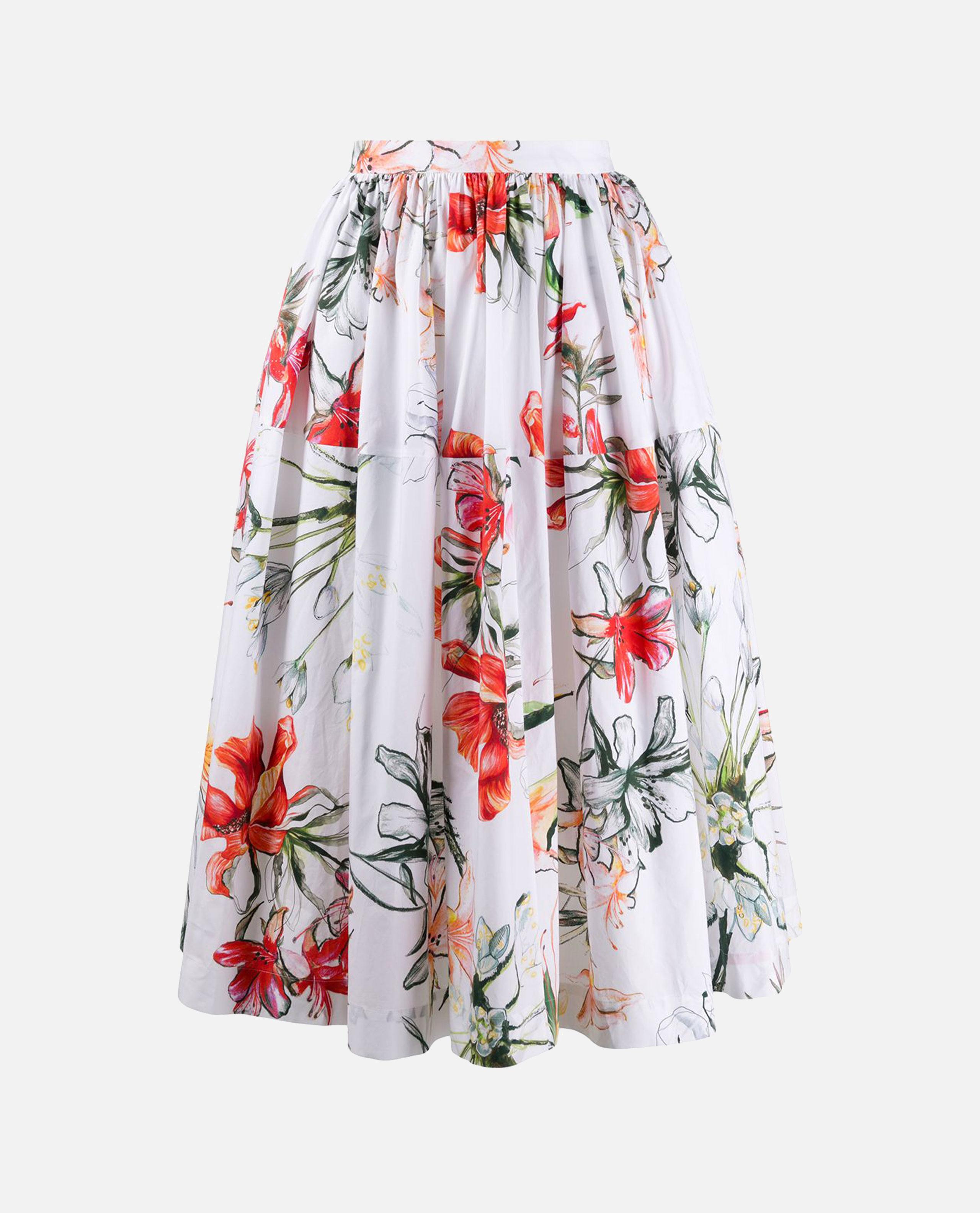 Tropical flower print skirt