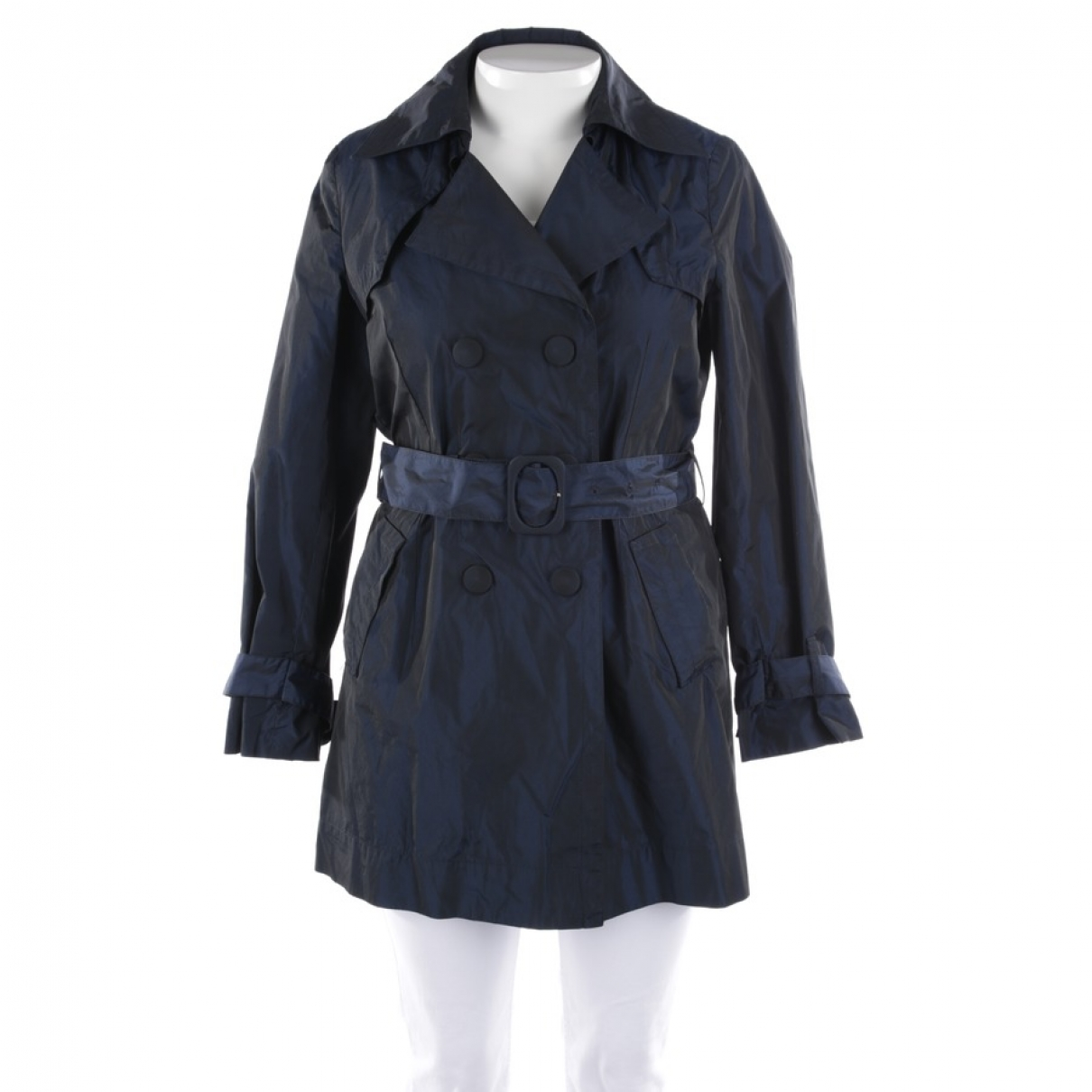 Moncler \N Trench in  Blau Synthetik