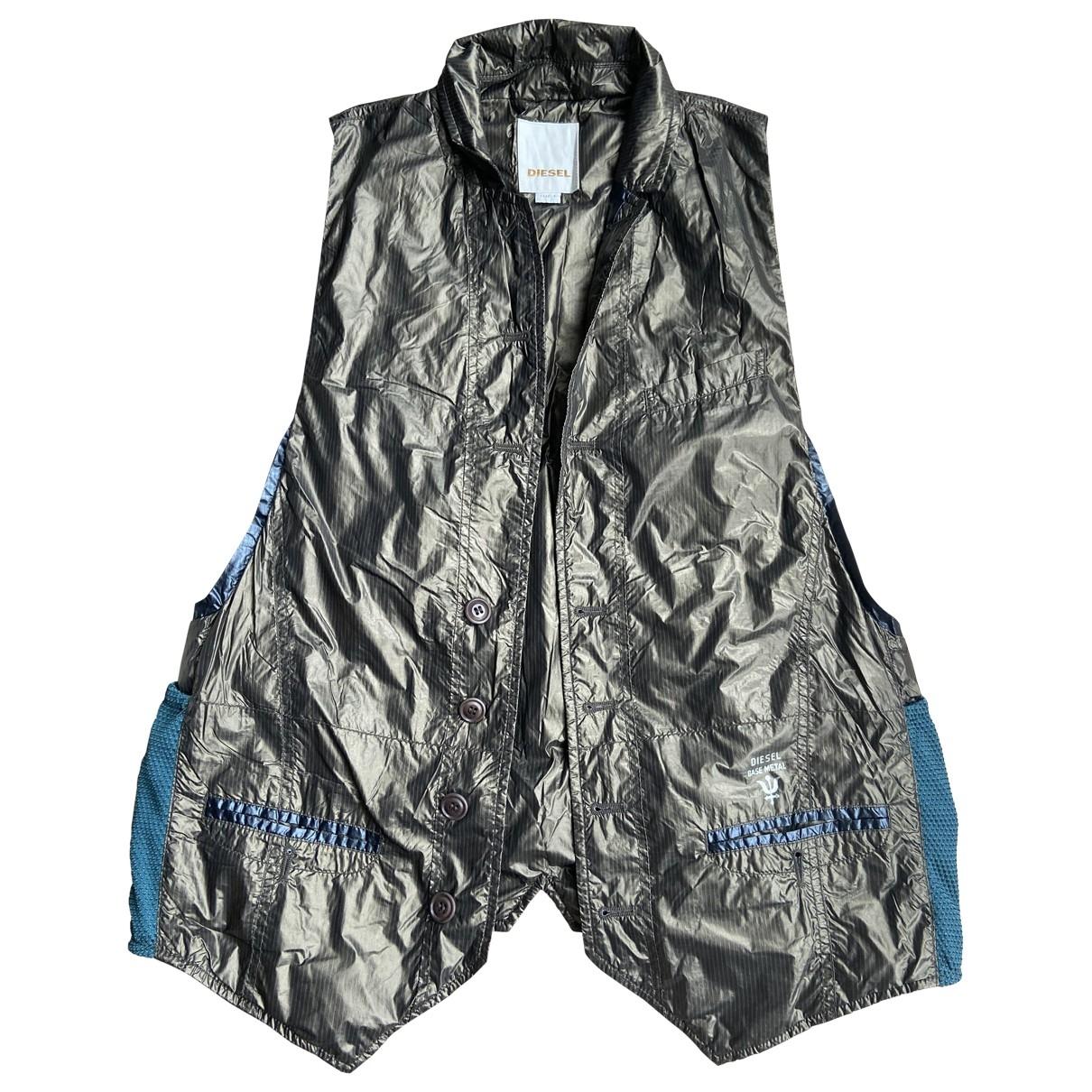 Diesel \N Pullover in  Silber Synthetik