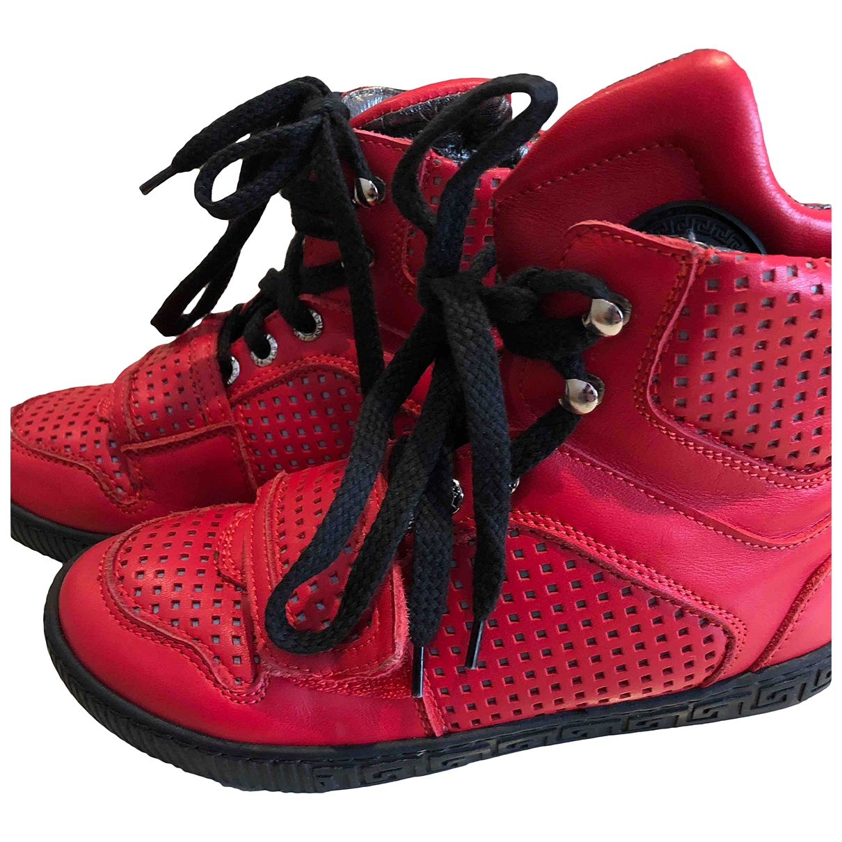 Versace \N Red Leather Trainers for Kids 31 EU