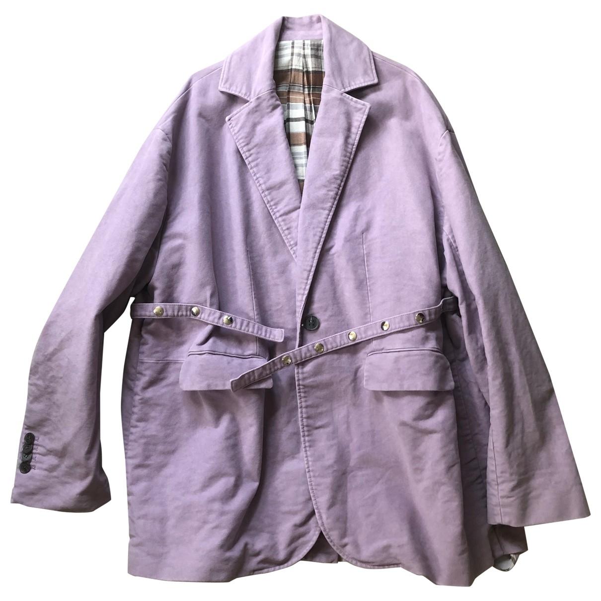 Acne Studios \N Purple Cotton coat for Women 36 FR