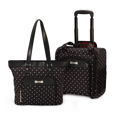 Geoffrey Beene Fashion Dot 2-pc. Luggage Set, One Size , Black