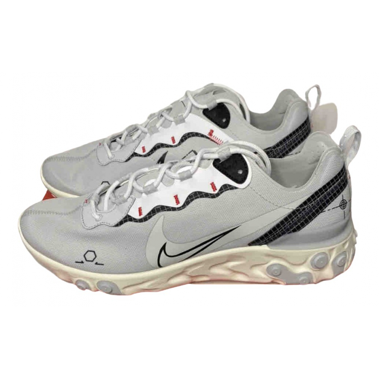 Nike React element 55 Sneakers in  Silber Leinen