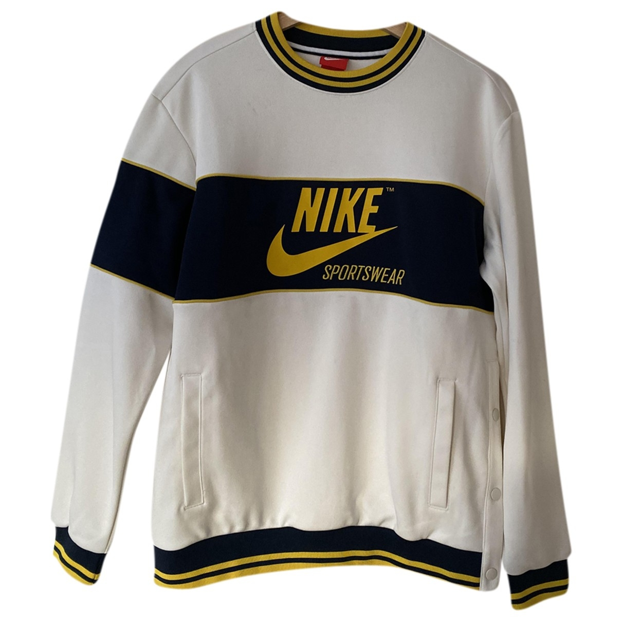 Nike \N Pullover.Westen.Sweatshirts  in  Weiss Polyester