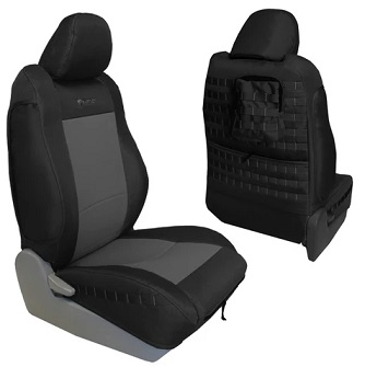Bartact TRAC0512FPBG Tactical Series Front Seat Cover Black/Acu Camo for Toyota Tacoma TRD 2005-2012