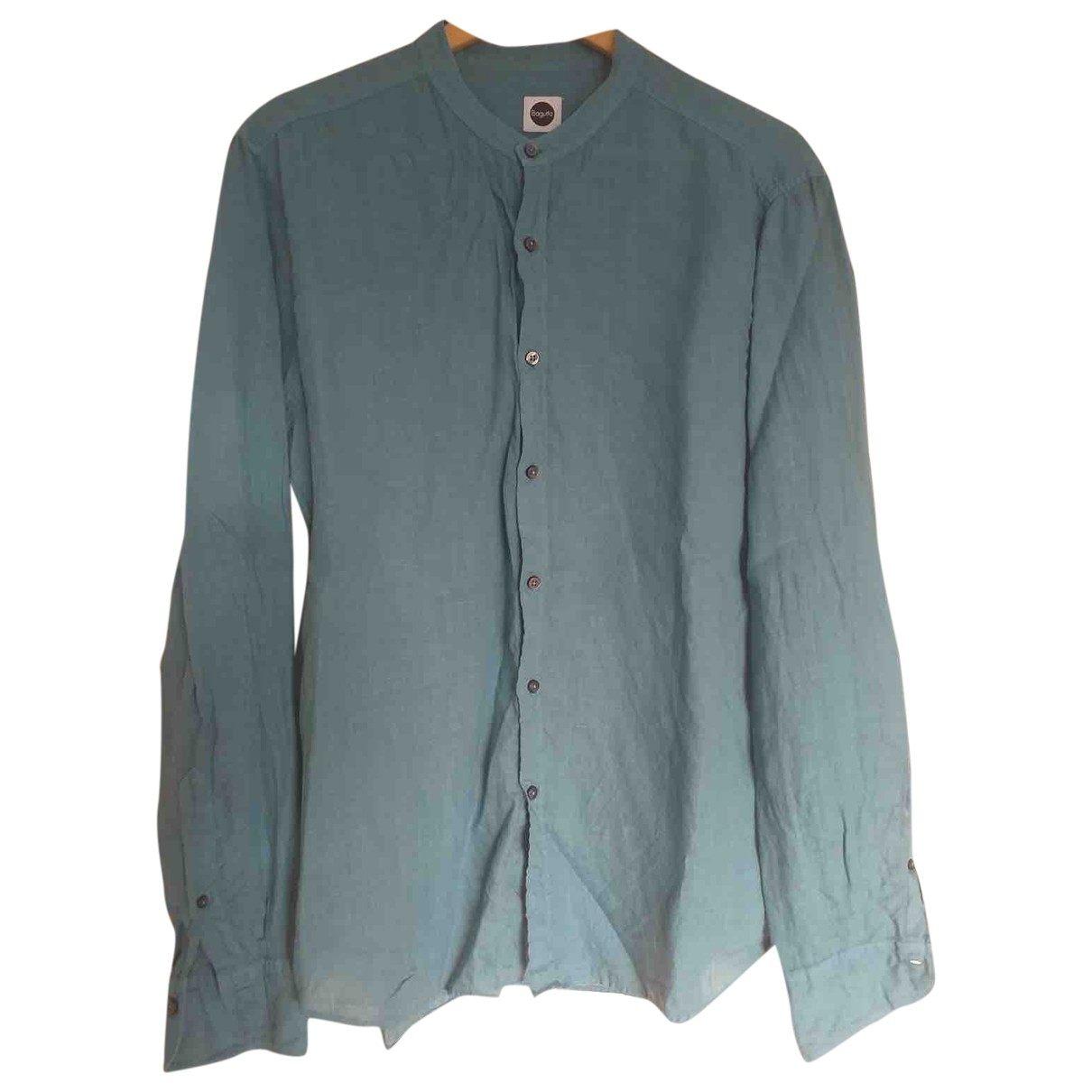 Non Signé / Unsigned \N Turquoise Linen Shirts for Men L International