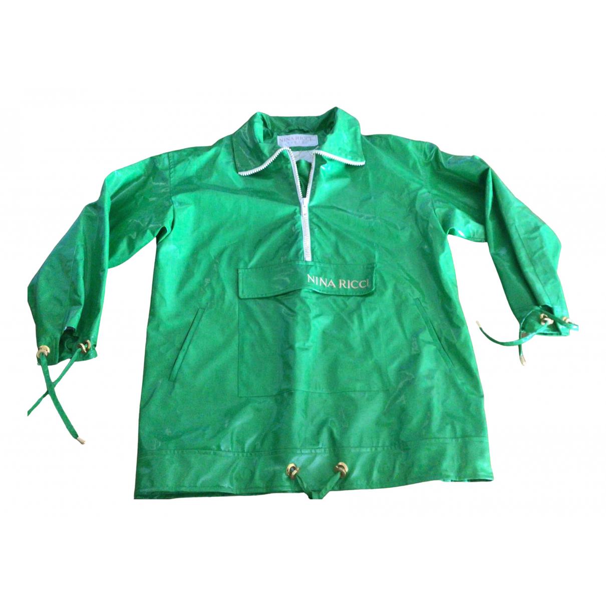Nina Ricci N Green Trench coat for Women 38 FR