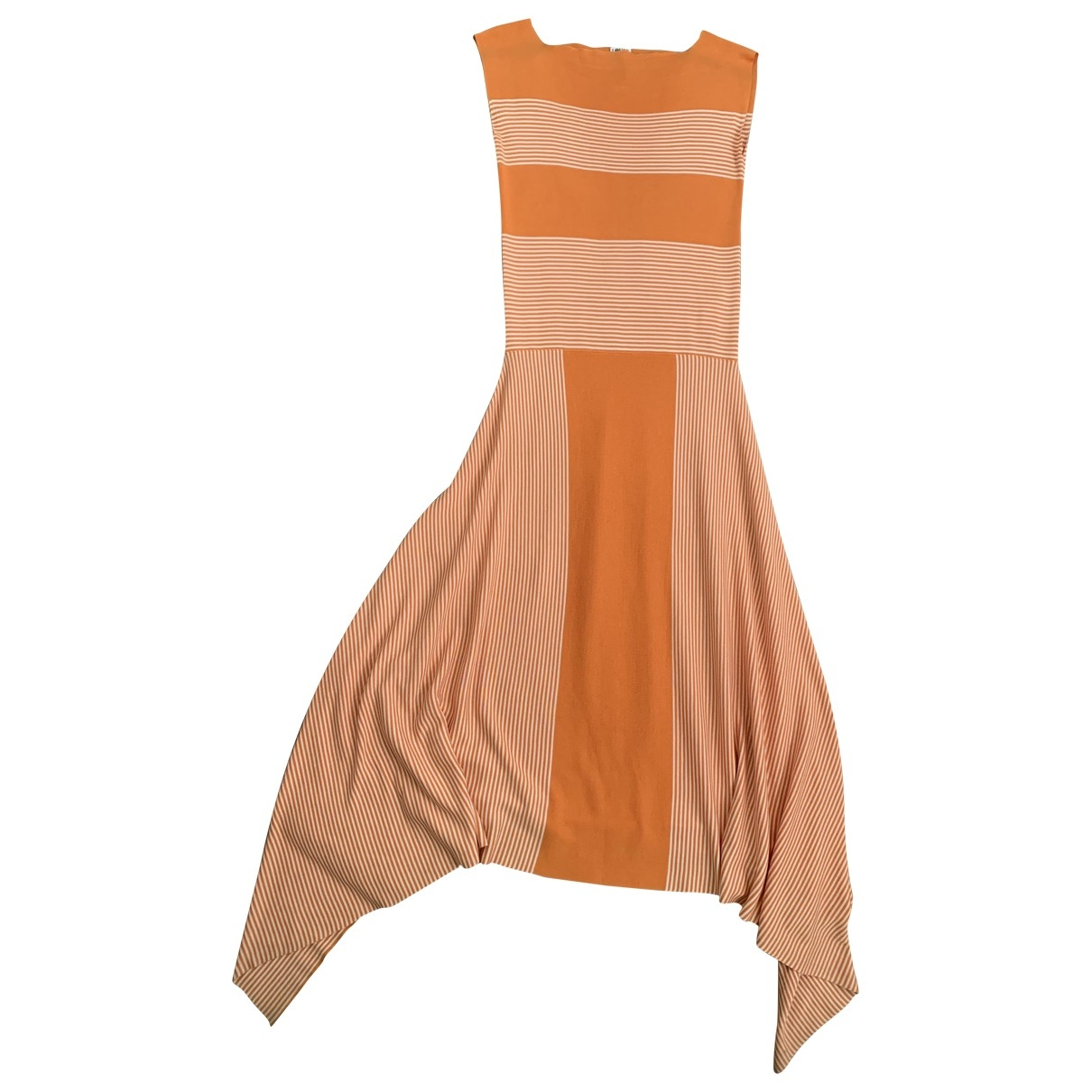 Loewe - Robe   pour femme en soie - orange