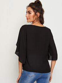 Split Sleeve Solid Top