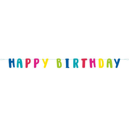 Llama Happy Birthday Letter Banner, 6 ft For Birthday Party