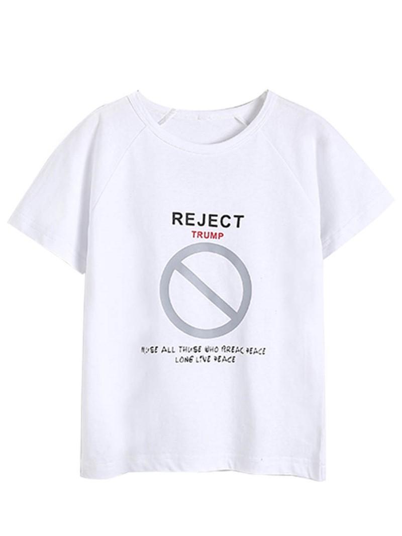 Ericdress Letter Print Scoop Boy's Short Sleeve T Shirt