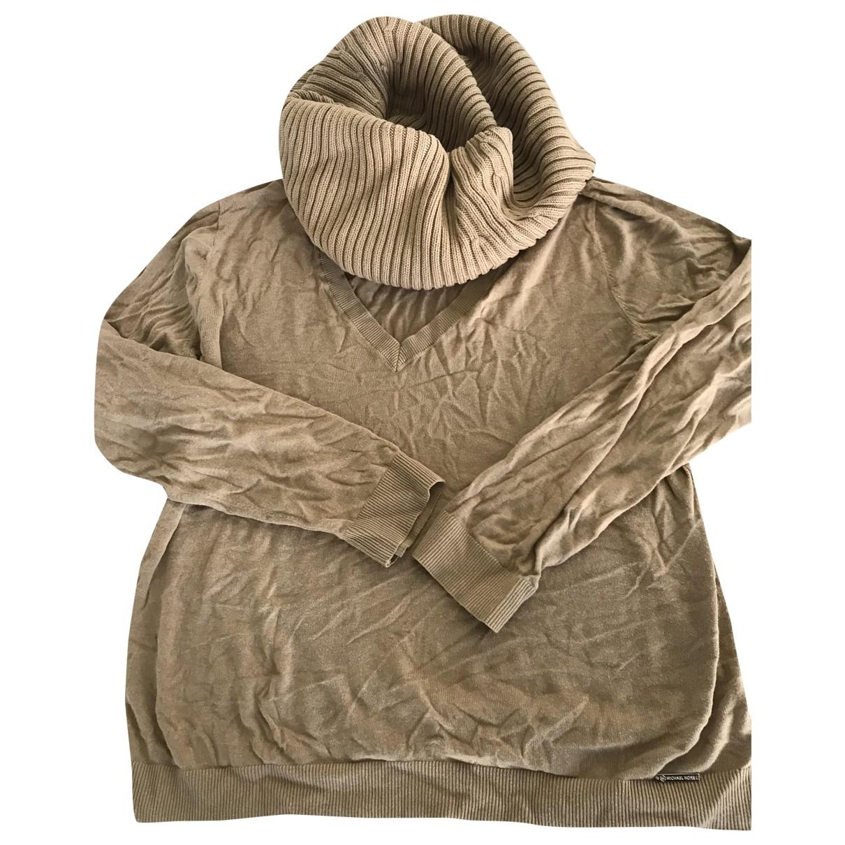 Michael Kors - Pull   pour femme en coton - camel