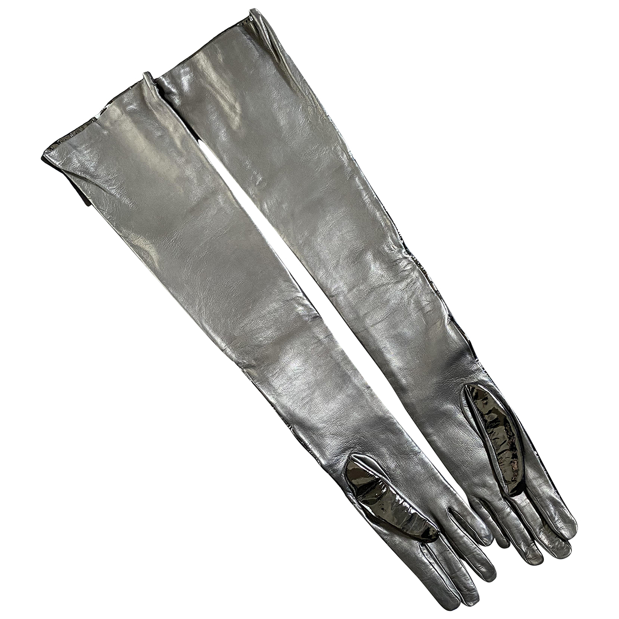 Ermanno Scervino \N Handschuhe in  Schwarz Leder