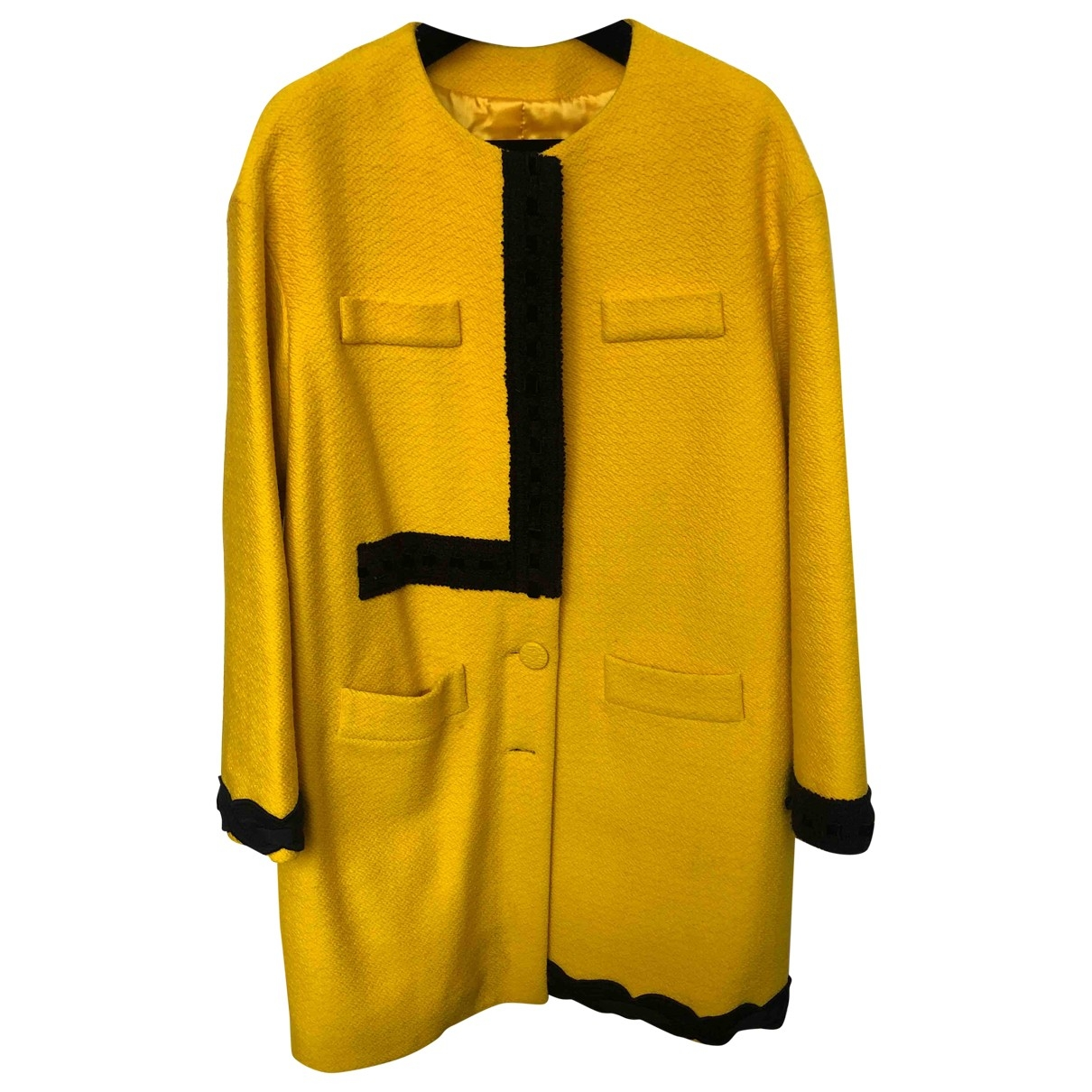 Moschino \N Maentel in  Gelb Wolle