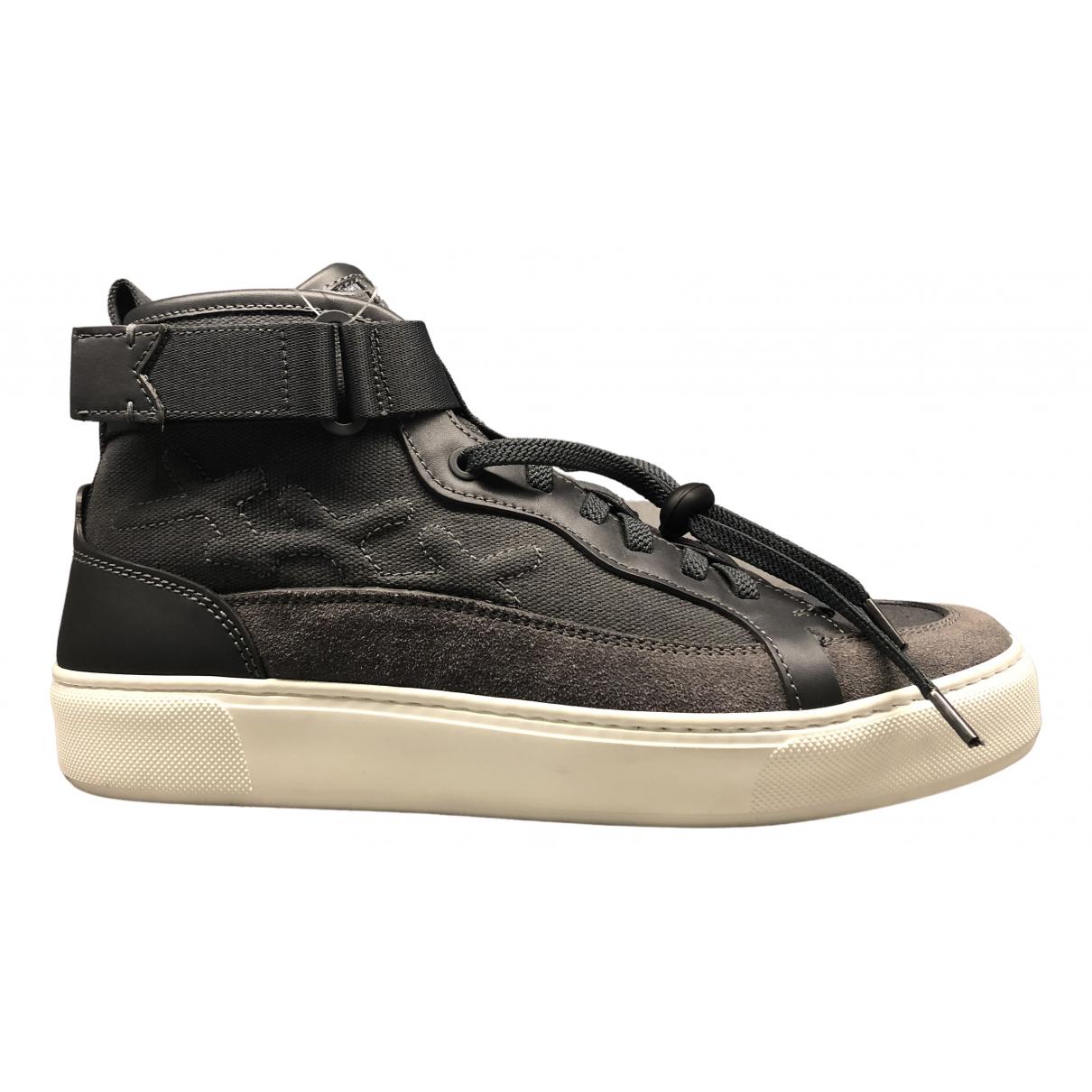 Ermenegildo Zegna \N Sneakers in  Grau Leinen