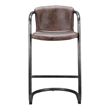 Freeman Collection PK-1060-03 Bar Stool with Iron Frame in Brown
