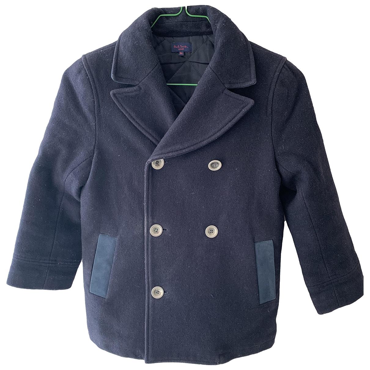 Paul Smith - Blousons.Manteaux   pour enfant en laine - marine