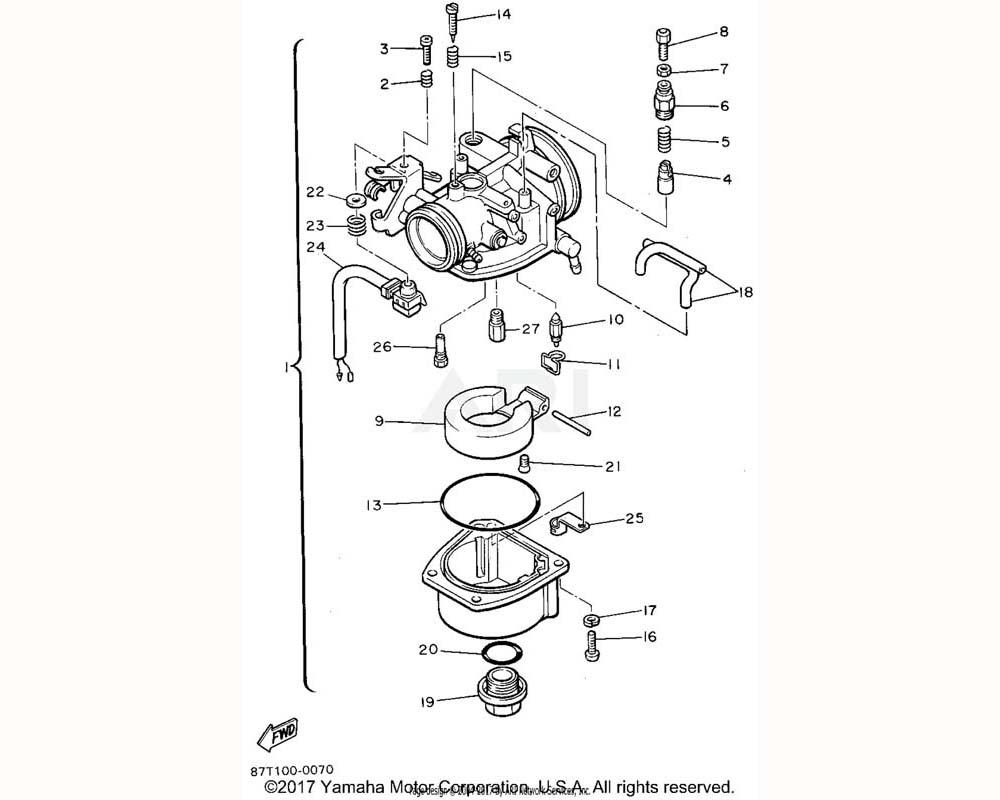 Yamaha OEM 8G6-14948-18-00 JET (#78)