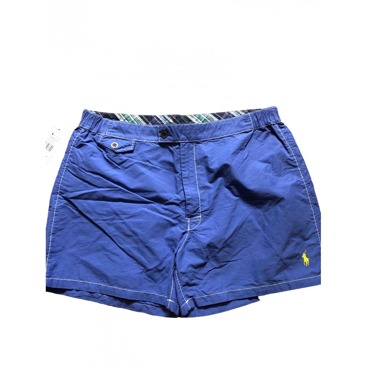 Polo Ralph Lauren \N Badeanzug in  Blau Baumwolle - Elasthan