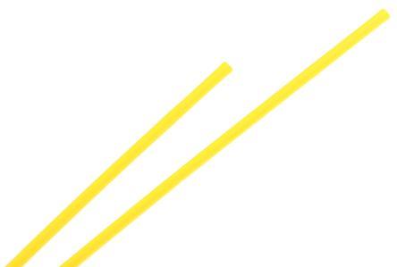 TE Connectivity Heat Shrink Tubing, Yellow 1.2mm Sleeve Dia. x 1.2m Length 2:1 Ratio, RNF-100 Series