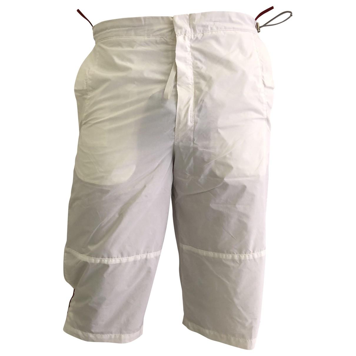 Prada \N Shorts in  Weiss Polyester