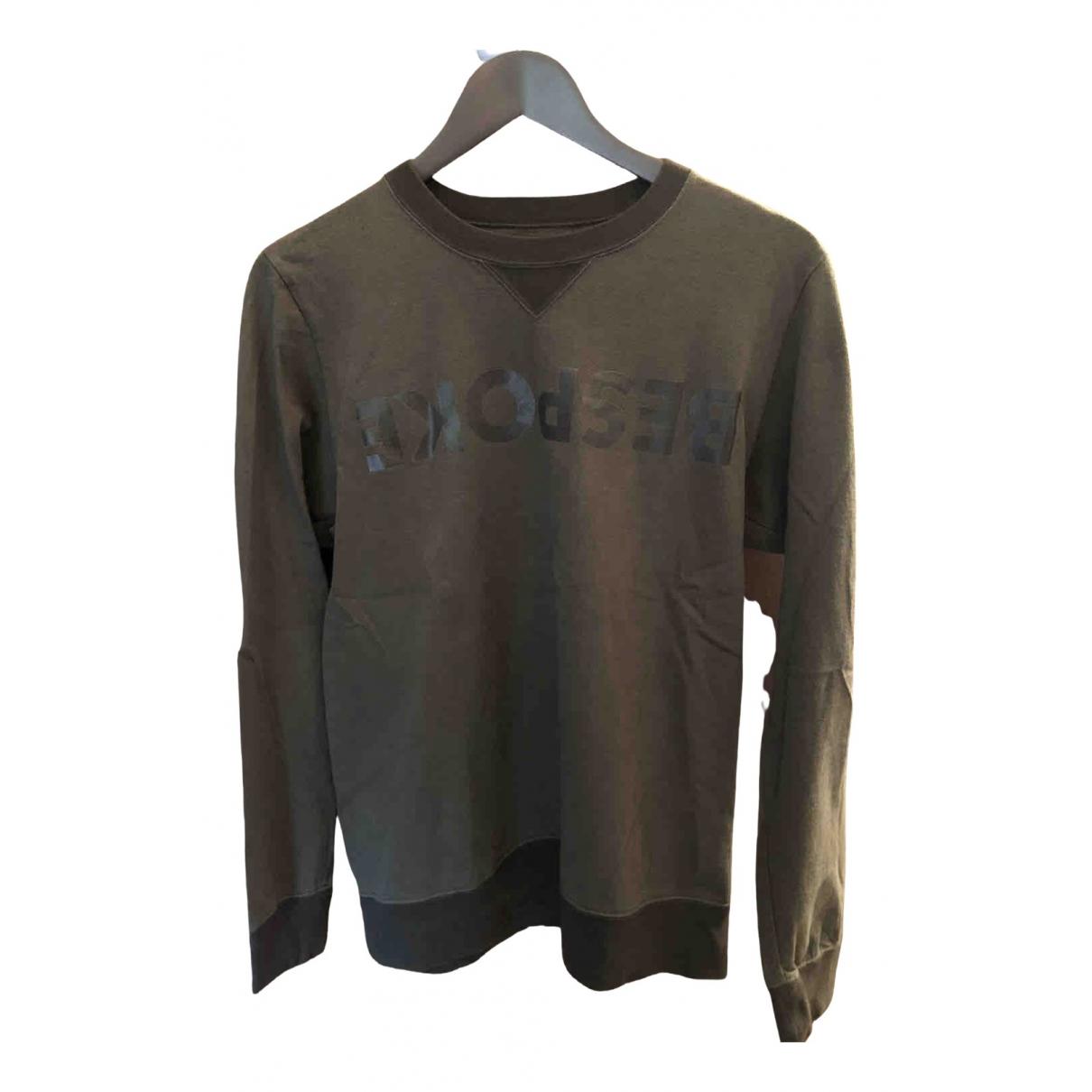 Sacai \N Pullover.Westen.Sweatshirts  in  Khaki Baumwolle