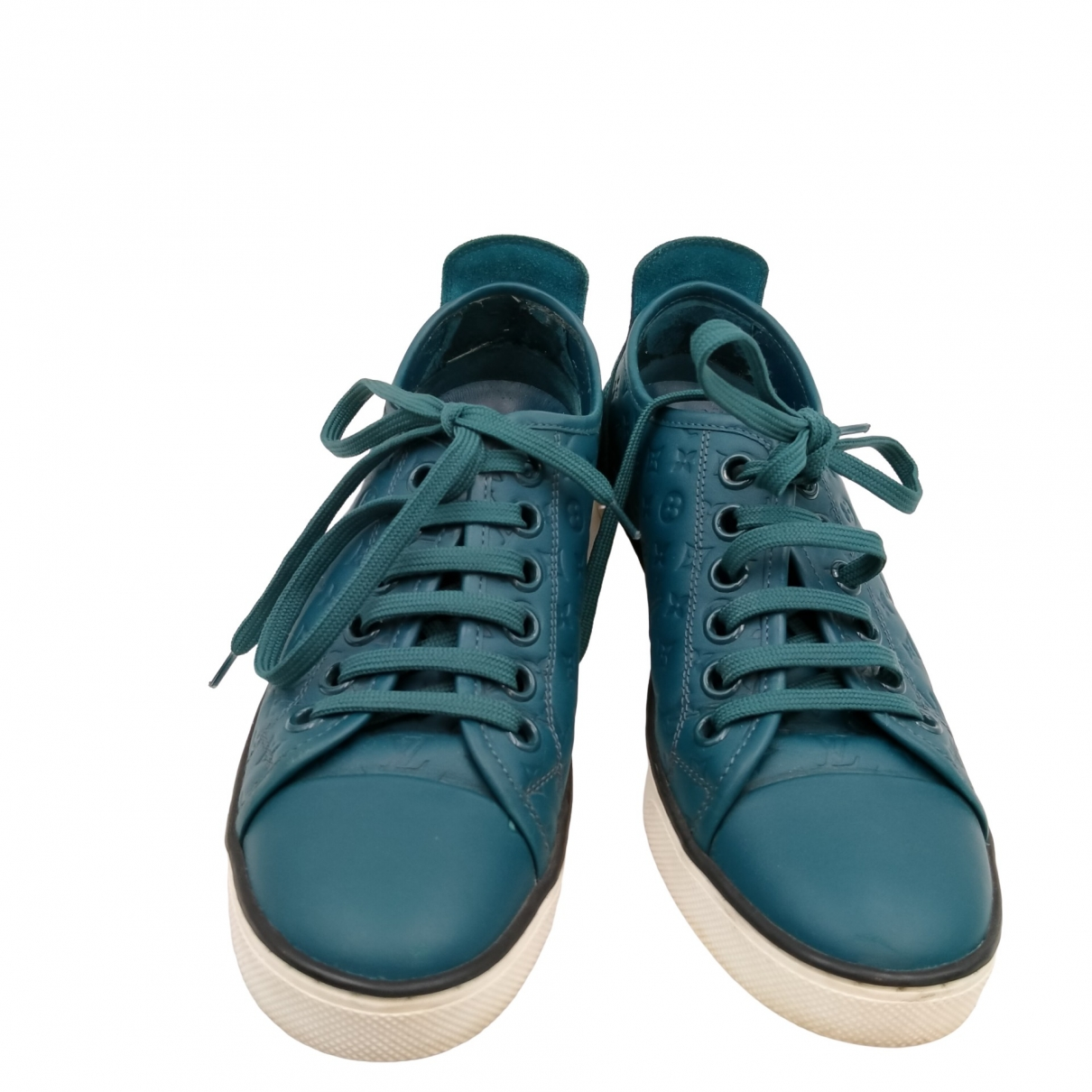 Louis Vuitton - Baskets FrontRow pour femme en cuir - turquoise