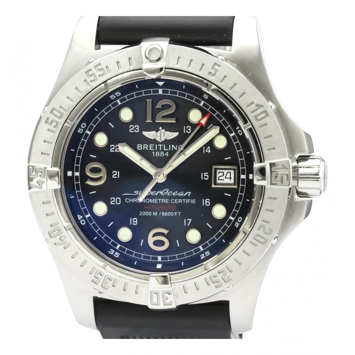 Breitling SuperOcean Black Steel watch for Men N