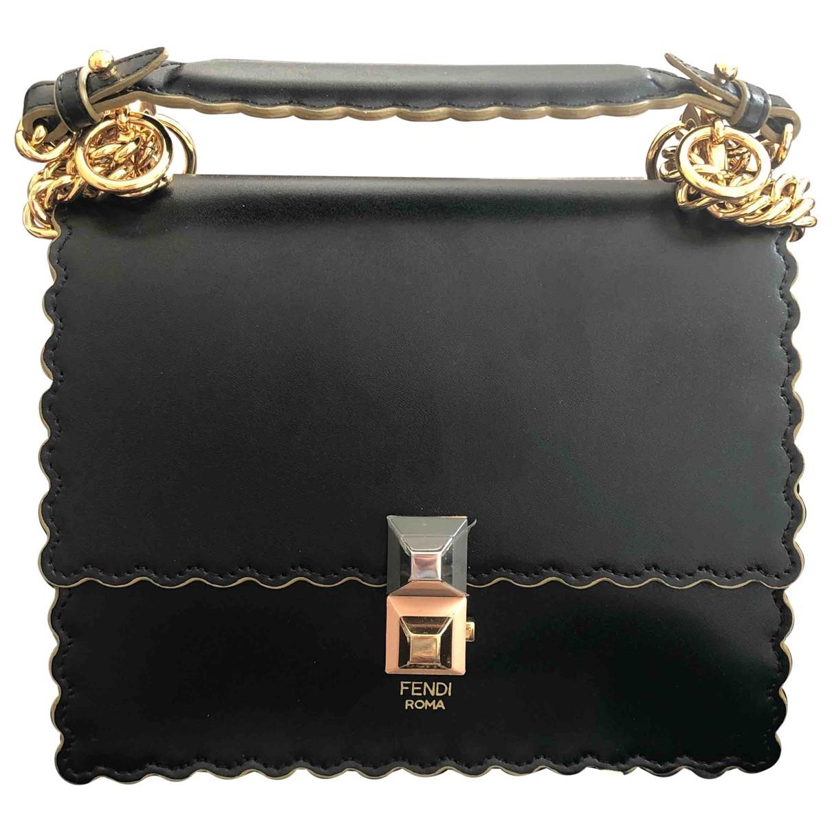Fendi Kan I Black Leather handbag for Women \N