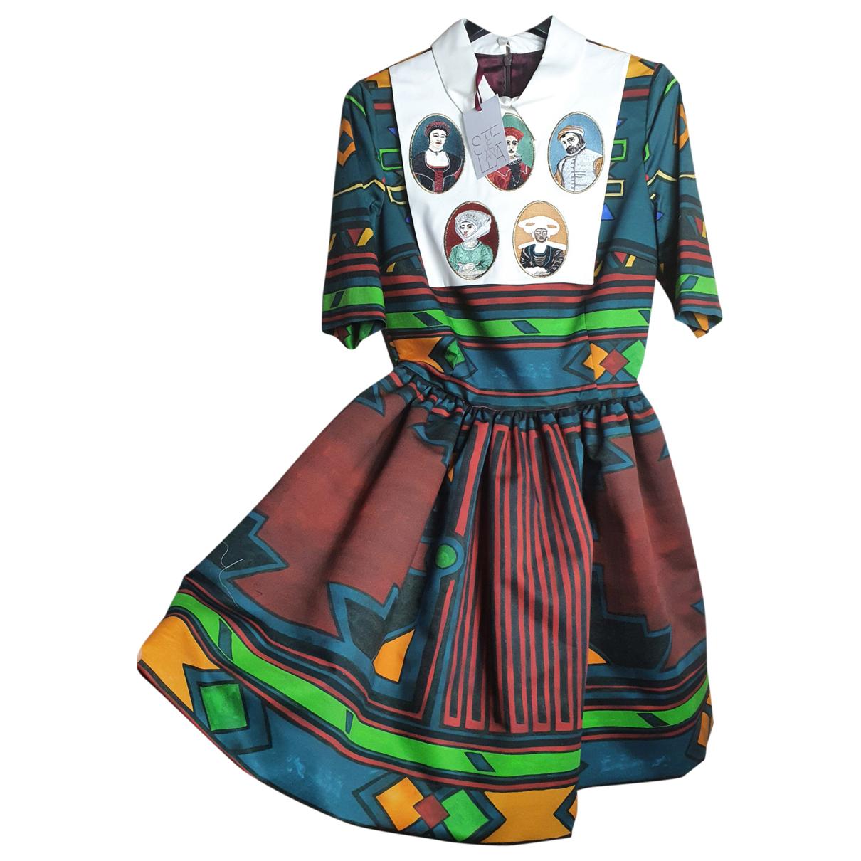 Stella Jean N Multicolour Cotton dress for Women 40 IT
