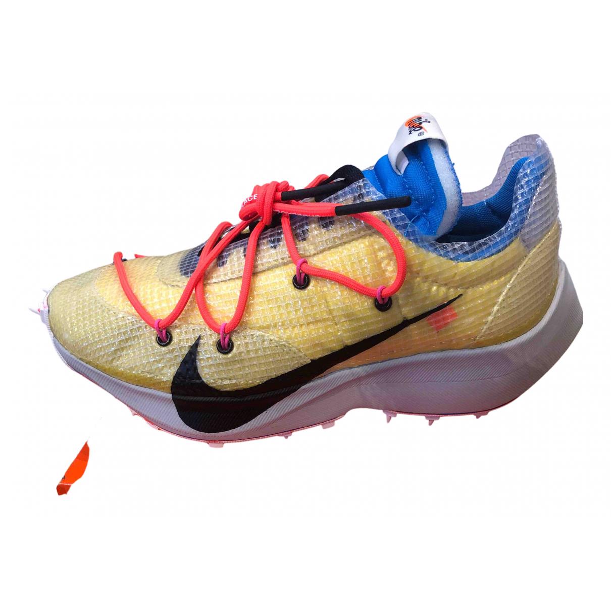 Nike X Off-white - Baskets Vapor Street pour femme - jaune