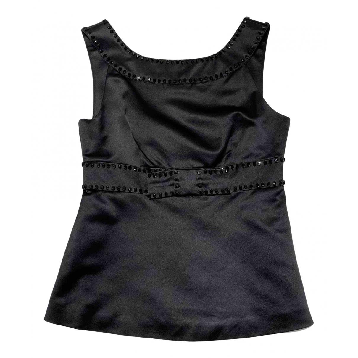 Red Valentino Garavani - Top   pour femme en soie - noir