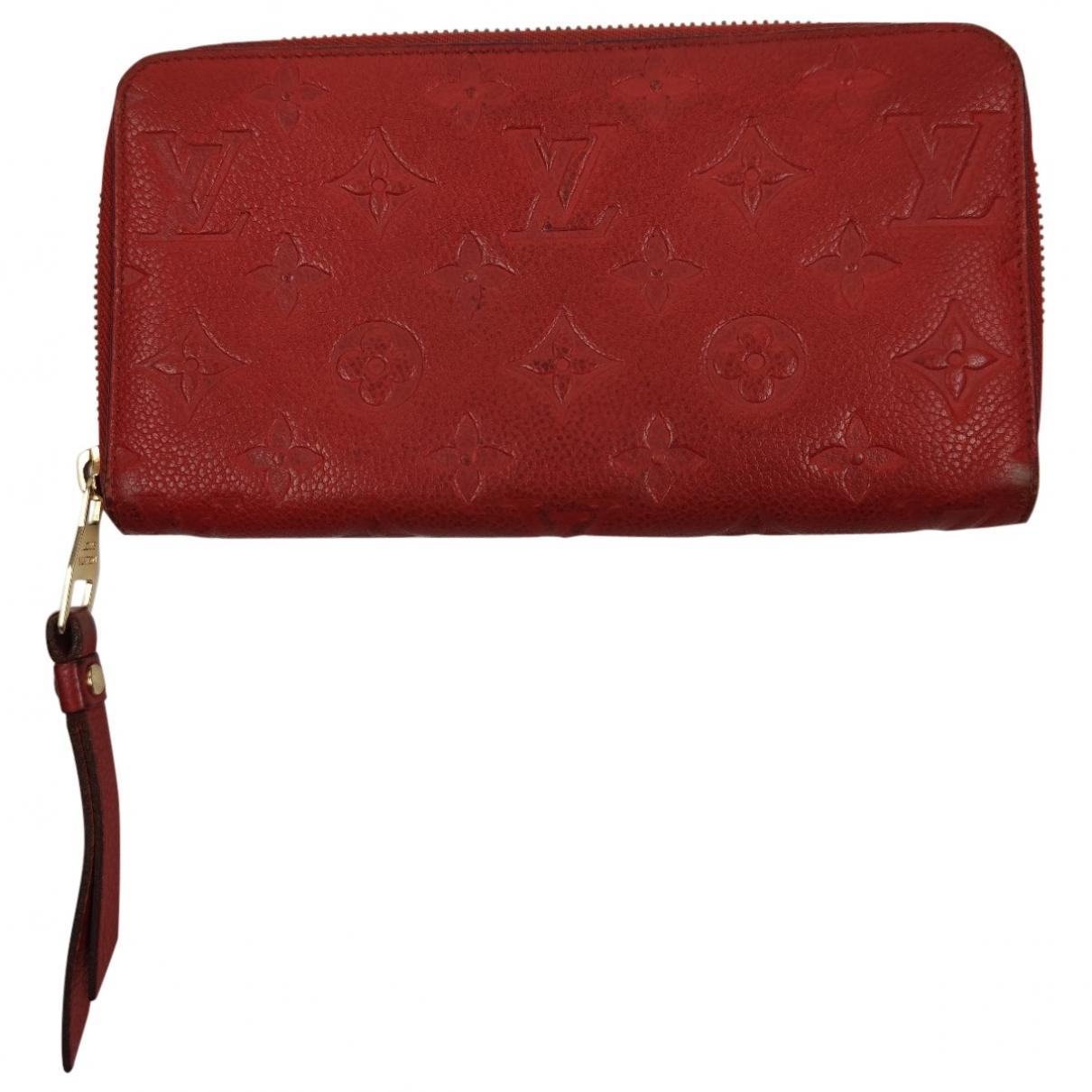 Louis Vuitton - Portefeuille Zippy pour femme en cuir - rouge